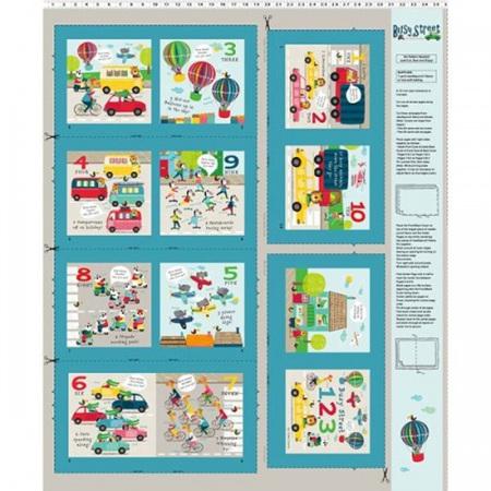 Busy Street Storybook Multi Panel Y3198-56P