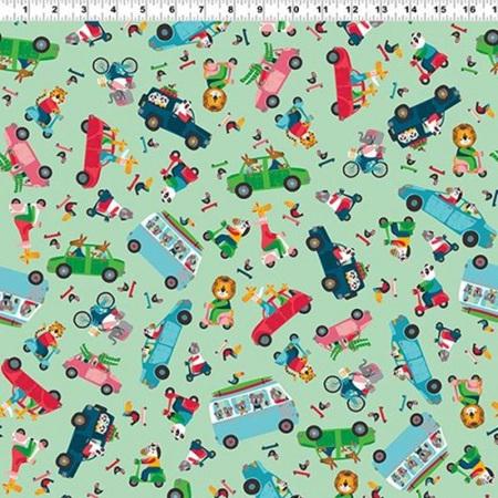 Busy Street Traffic Jam Green Y3199-110