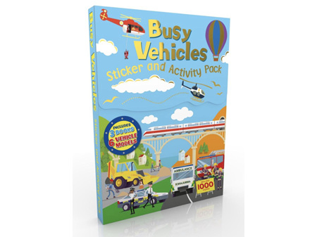 Busy Vehicles Sticker & Activity Pack