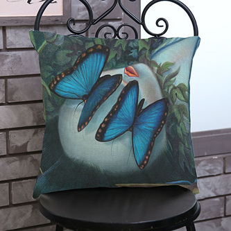 Butterflies for Eyes Cushion Cover