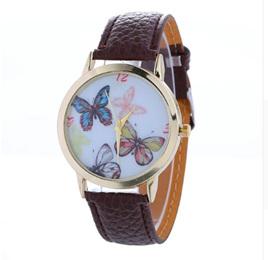 Butterflies Watch - Brown Strap