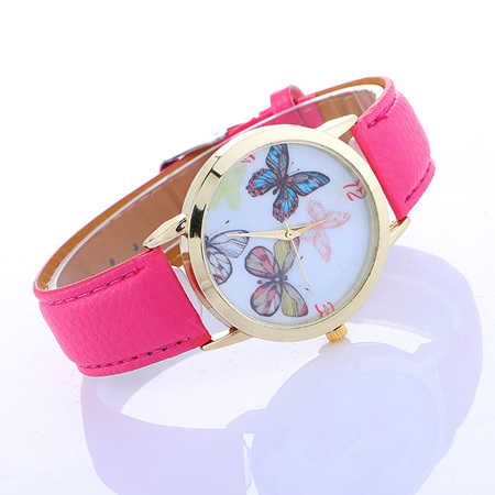 Butterflies Watch - Hot Pink Strap