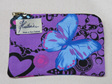 Butterfly Cosmetic Purse  - Purple Small