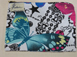 Butterfly Cosmetic Purse  - White Medium