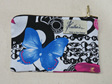 Butterfly Cosmetic Purse - White Small