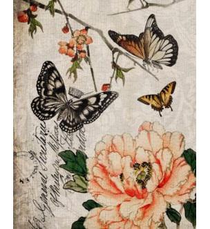 Butterfly Floral Royce Decoupage Paper