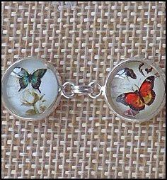 Butterfly Glass Dome Bracelets