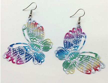 BUTTERFLY MultiColour Drop Earrings