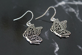 Butterfly Short Drop Earrings