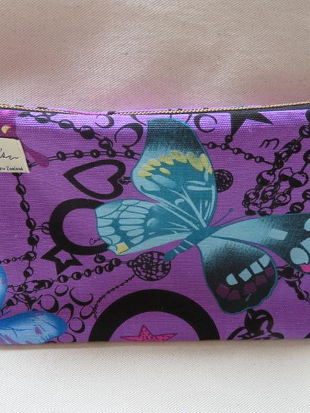 Butterfly Toilet Bag - Purple Large
