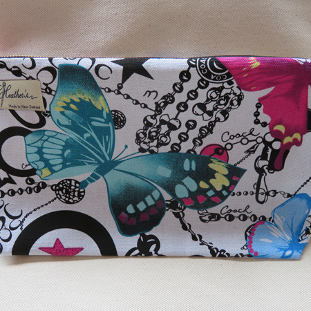 Butterfly Toilet Bag - White Large
