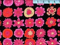 Button Flowers Black