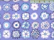 Button Flowers Blue