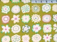 Button Flowers Green
