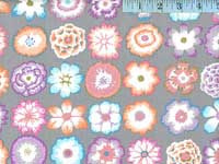 Button Flowers Grey