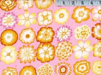Button Flowers Pink