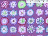 Button Flowers Purple