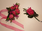 buttonholes, school ball, flowers, ball flowers