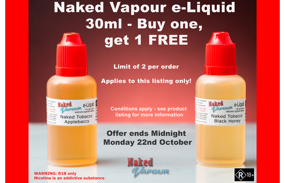 Buy 1, get 1 FREE @ Naked Vapour NZ