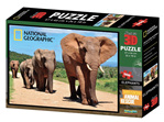 buy at www.puzzlesnz.co.nz national Geographic 3D 500 piece jigsaw Elephants