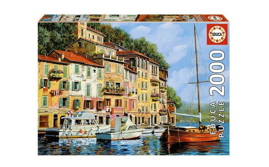 Educa 2000 Piece Jigsaw Puzzle: La Barca Rossa Alla Calata