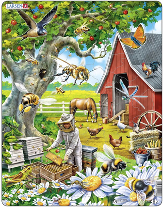Larsen Tray Jigsaw Puzzle: Beekeeping