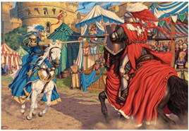 Holdson 300 Piece Jigsaw Puzzle:  Jousting Knights