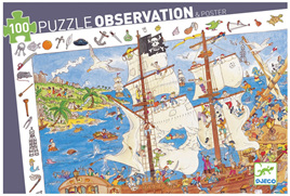 Djeco Observation 100 Piece Jigsaw Puzzle: Pirates