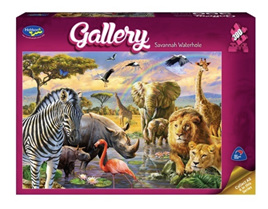 Holdson 300 XL Piece Jigsaw Puzzle: Savannah Waterhole