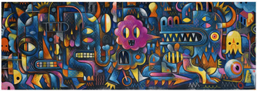 Djeco Gallery 500 Piece Jigsaw Puzzle: Monster Wall
