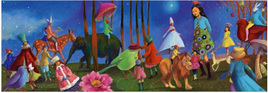 Djeco Gallery 350 Piece Jigsaw Puzzle: Wonderful Walk