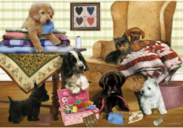 Holdson's 300  Piece Jigsaw Puzzle: Playful Puppies
