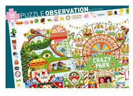Djeco Observation 35 Piece Jigsaw Puzzle: Crazy Park