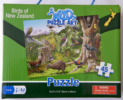 Southern Skies 45 Piece Jigsaw Puzzle Birds Of New Zealand
