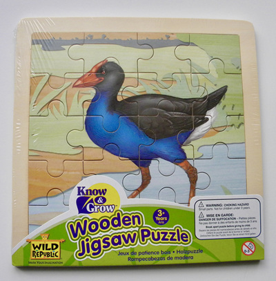 Wild Republic Wood 20 Piece Jigsaw Puzzle:  Pukeko