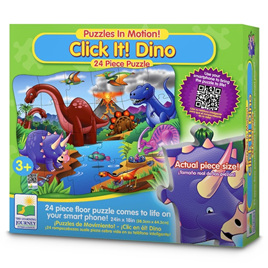Learning Journey 24 Piece Jigsaw Puzzle: Puzzles In Motion - Click-It - Dino