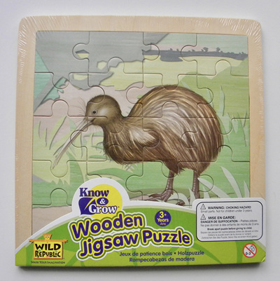 Wild Republic Wood 20 Piece Jigsaw Puzzle:  Kiwi