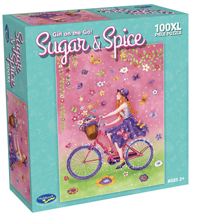 Holdson's 100XL Piece Jigsaw Puzzle:  Girls On The Go!