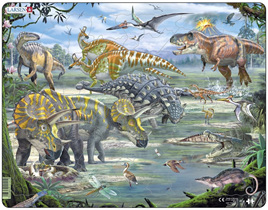 Larsen Tray Jigsaw Puzzle: Dinosaurs