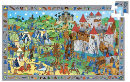 Djeco Observation 54 Piece Jigsaw Puzzle: Knights