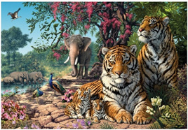 Holdson 300 Piece Jigsaw Puzzle:  Tiger Sanctuary