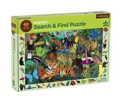 Mudpuppy 64 Piece Jigsaw Puzzle: Rainforest Search & Find
