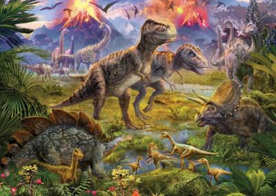 Holdson's 100XL Piece Jigsaw Puzzle:  Dinosaur Gathering