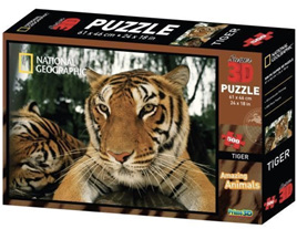 National Geographic 500 piece 3D Lenticular Jigsaw Puzzle Tiger