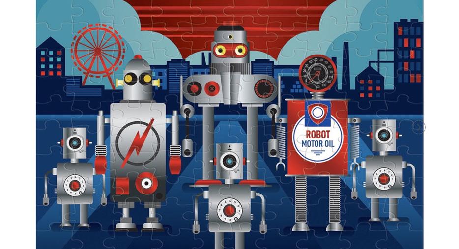 Mudpuppy 100 Piece Robotics Foil Jigsaw Puzzle