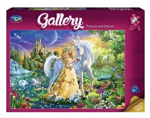Holdson 300 XL Piece Jigsaw Puzzle: Princess And Unicorn