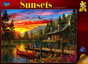 Holdson 1000 Piece Jigsaw Puzzle: A Cottage At Sunset