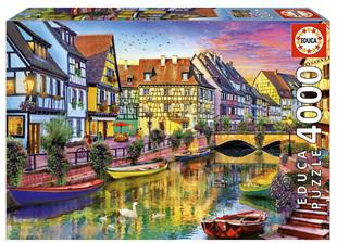 Educa  4000 Piece Jigsaw Puzzle: Colmar Canal France