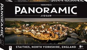 Hinkler Mindboggler 1000 Piece Jigsaw Puzzle:  Panorama Staithes Yorkshire