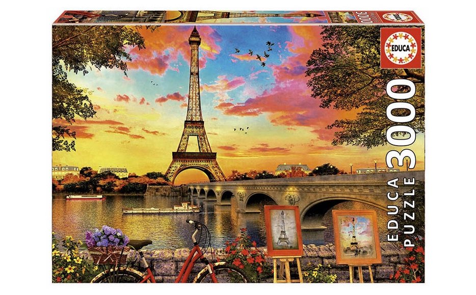 Educa 3000 Piece Jigsaw Puzzle: Sunset In Paris